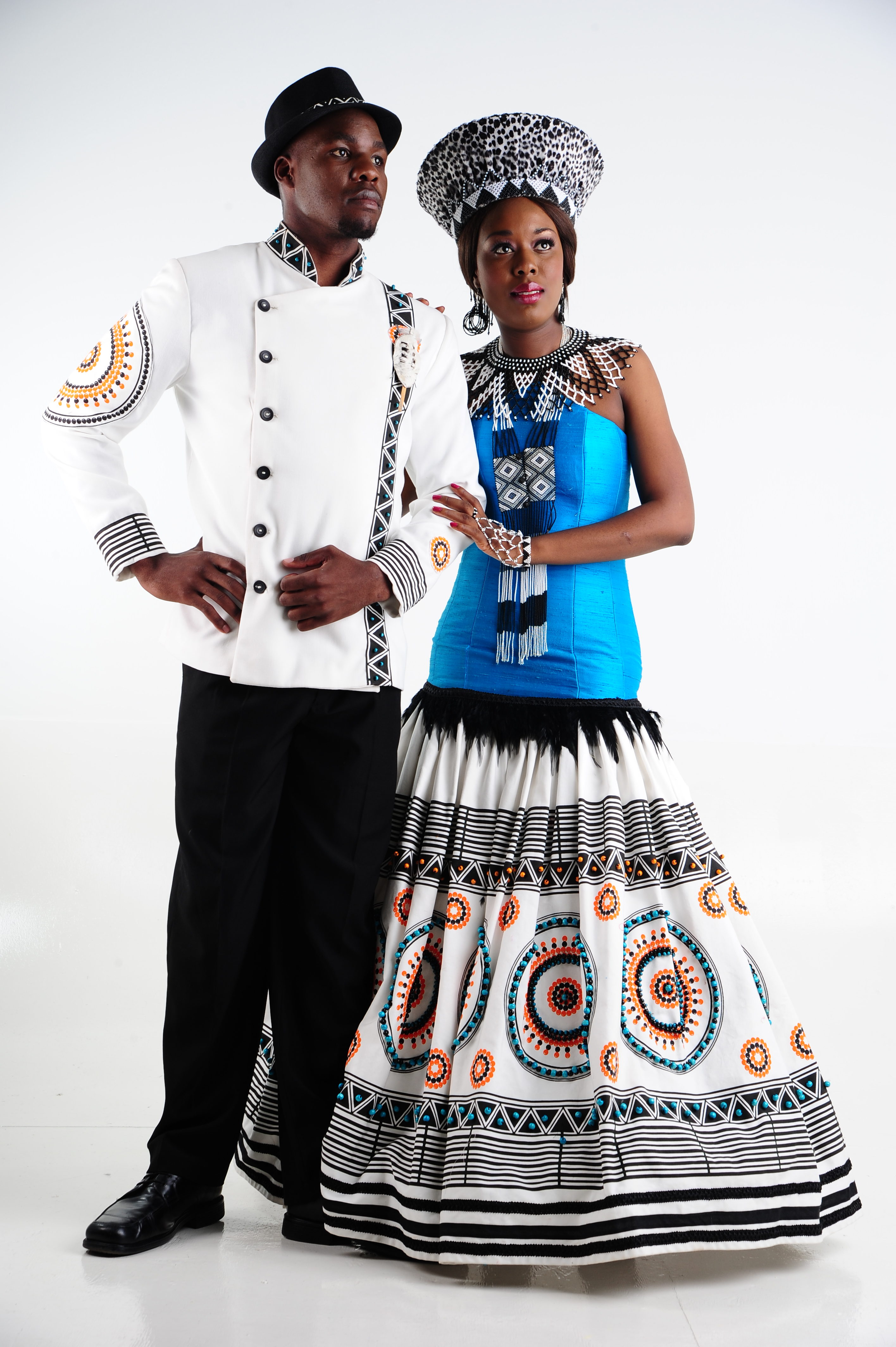 Tswana traditional dress designs 2017 styles 7 - Xhosa Inspired Dress With Traditional Xhosa Beads And Matching Jacket