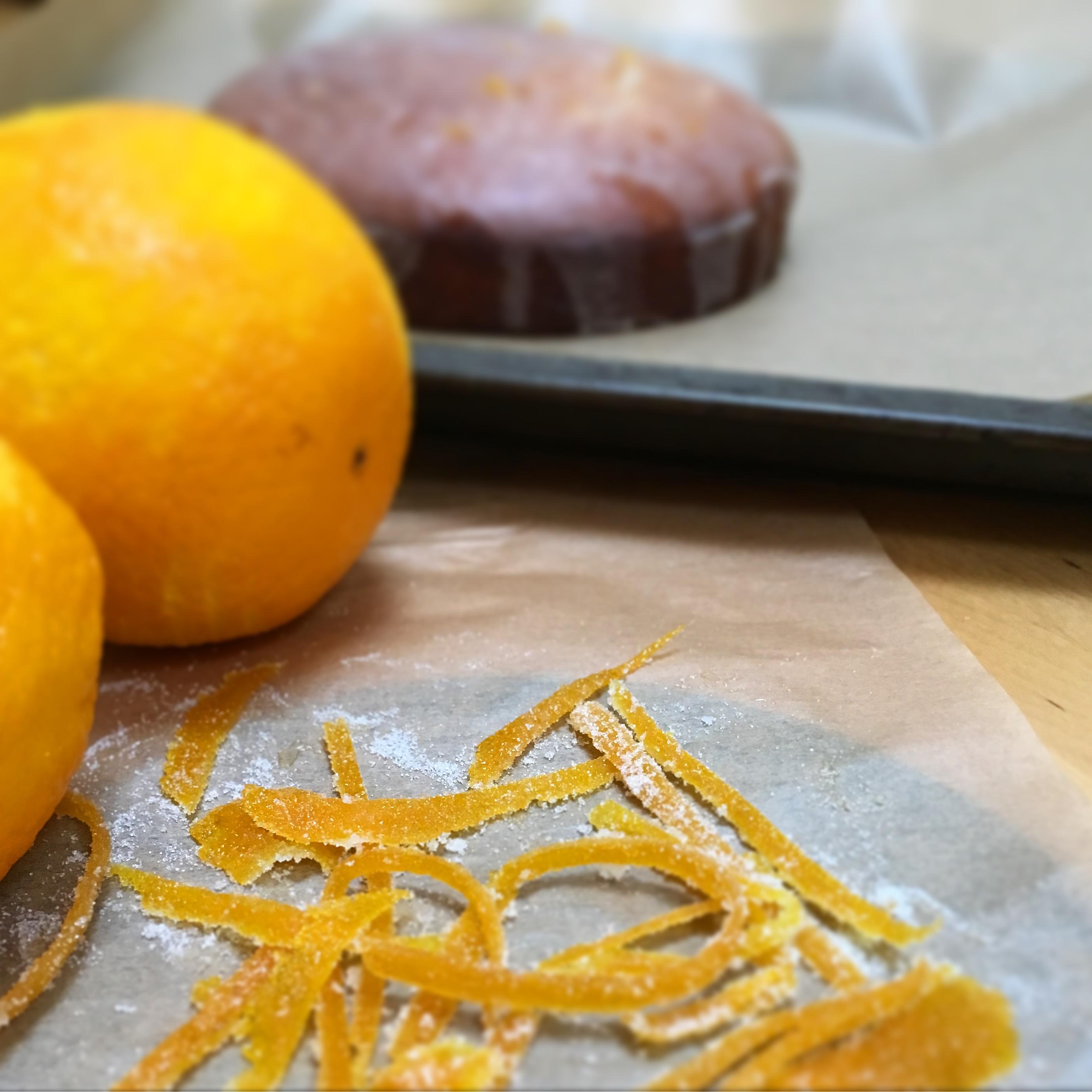 Candied Orange Drizzle Cake Confetti Chicks